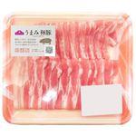 トップバリュ うまみ和豚 ばら 超うす切り(国産)140g(100gあたり(本体)258円)