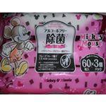 レック アルコールフリー除菌シート ミッキー&ミニー 60枚×3コ