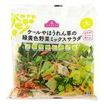 トップバリュ ケールやほうれん草の緑黄色野菜ミックスサラダ 大 130g