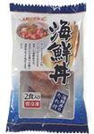 ・【原料原産地:ギンザケ(チリ)またはサーモントラウト(チリ)、いか(チリ)】マリンフーズ 海鮮丼【冷凍】90g(45g×2食)