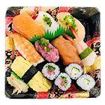 2種のサーモンと海老が入った握り寿司盛合せ【わさびなし】