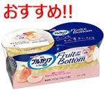 明治 ブルガリアヨーグルトLB81 Fruit on Bottom プレーンと白桃 70g×2