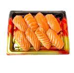 【魚屋の鮨】asc認証 アトランティックサーモンにぎり寿司 8貫 ※わさび抜き