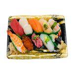 【火曜日配送不可】10種海鮮の味わい握り寿司 1人前【ワサビなし】