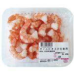 原料原産地 インドネシア ボイルむきえび(生食用)100g(100gあたり(本体)298円)