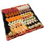 【お盆ごちそう予約】【8/13(金)~8/15(日)配送】10種海鮮の味わい握り寿司 50貫わさびなし
