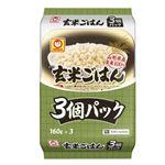 東洋水産 マルちゃん 玄米100%のごはん 160g×3 ※お一人さま2点限り