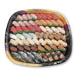 【3日前予約】鮮魚の握り鮨(♪本まぐろ入り)60貫 ※わさび抜き