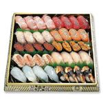 【3日前予約】鮮魚の握り鮨(♪本まぐろ入り)40貫 ※わさび抜き