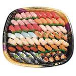 【寿司の日】【12時以降配送限定】魚屋自慢の握り鮨(本まぐろ入り)60貫 ※わさび抜き