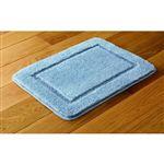 HOME COORDY 抗菌防臭・吸水バスマット ブルー 45cm×60cm