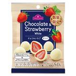 トップバリュ チョコ&いちご ホワイト 50g