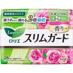 花王 ロリエ スリムガード しっかり昼用 羽つき スイートローズの香り 26コ入