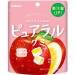 カバヤ ピュアラルグミ りんご 58g