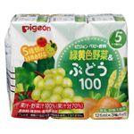 【5・6ヶ月頃~】ピジョン 紙パック飲料 緑黄色野菜&ぶどう100 125ml×3個パック